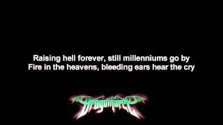 DragonForce - Strike Of The Ninja | Lyrics on screen | HD