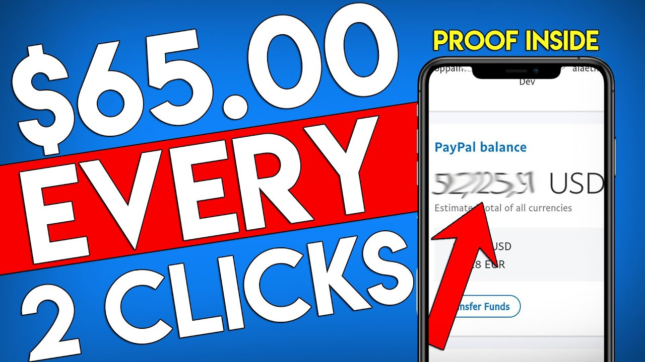 Earn .00 PER 2 Clicks For FREE! WITH PROOF