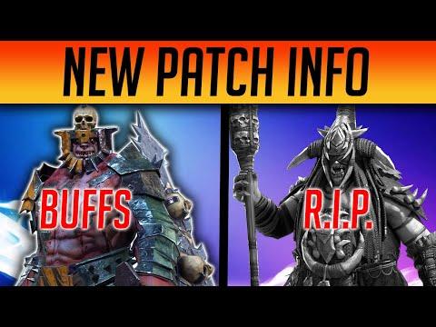 OFFICIAL BUFFS & NERFS PATCH NOTES   Raid: Shadow Legends