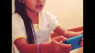 Sophie Giraldo aprendiendo a multiplicar