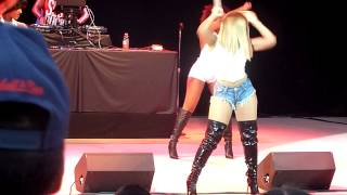 "Ashanti performing ""What's Love"" & ""Happy"" live in Pleasanton CA on July 2, 2014"