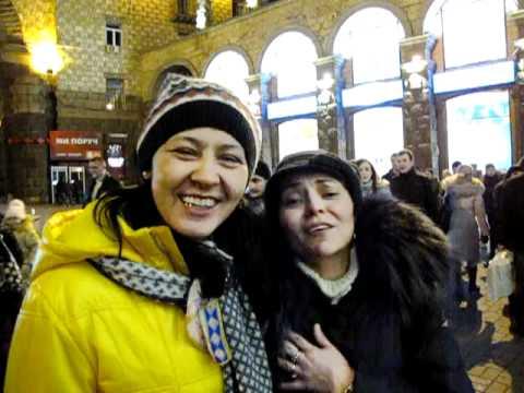 New Year carousel in Kiev