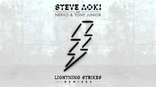 Steve Aoki, NERVO & Tony Junior - Lightning Strikes (Bad Royale Remix) [Cover Art]