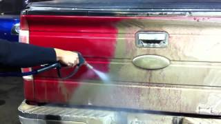 Thick mud and salt cleaning  Optima Steamer Steam Car Wash