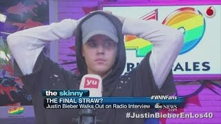 Justin Bieber Walks Out of Interview