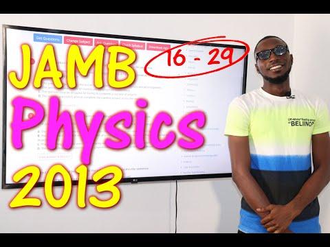 JAMB CBT Physics 2013 Past Questions 16 - 29