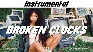 SZA - Broken Clocks (INSTRUMENTAL) *reprod*