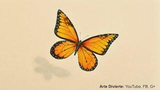 Cómo dibujar una mariposa monarca - Arte Divierte