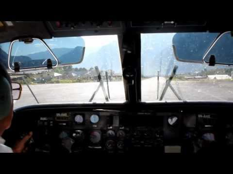 Dangerous Takeoff from Lukla Airport, Nepal