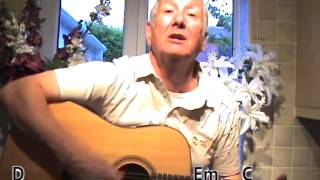 Somewhere Over The Rainbow - Israel Kamakawiwo'ole cover - lesson - with on-screen chords and lyrics