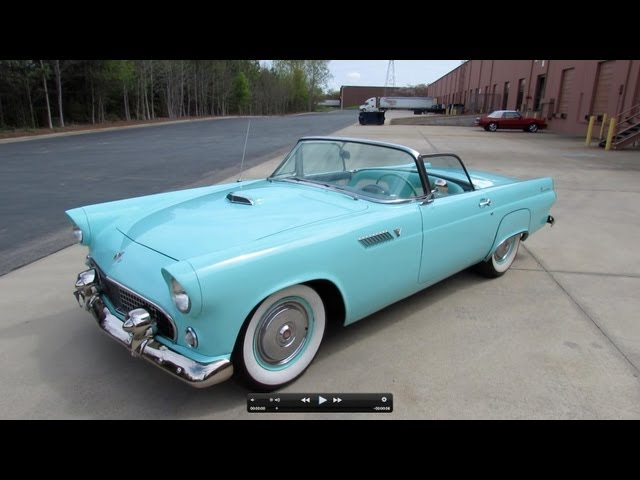 1955 Ford Thunderbird Roadster Start Up, Exhaust, and In Depth Tour