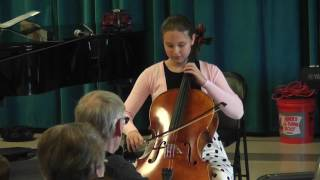 Andrea Plays Cello Concerto in C Minor by J.C. Bach