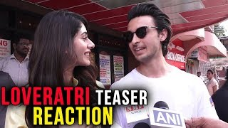Aayush Sharma And Warina Hussain REACT On Loveratri Teaser Success width=