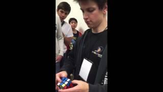 Feliks Zemdegs solving a Rubik's cube for me