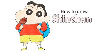 How to draw  shinchan step by step