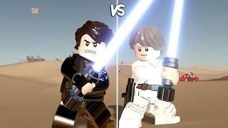 LEGO Star Wars: The Force Awakens - Anakin Skywalker vs Luke - CoOp Fight | Free Roam Gameplay
