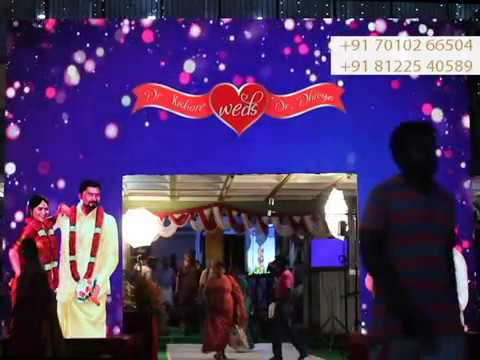 LED Screen Video Wall Arch Gate Entry | Wedding Reception Event Decoration Neyveli +91 81225 40589