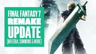 Final Fantasy 7 Remake Update: First Look at Materia, Summons, Box Art and More