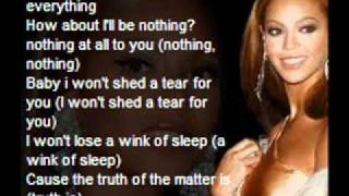 beyonce-irreplaceable lyrics