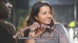 Best Humming Bgm sound Forever / Vinnaithaandi Varuvaaya / Whatsapp Status / Simbu and Trisha /