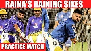 Raina Smashing Sixes in CSK Practice Match at Chennai Chepauk Chennai Super Kings | CSK MSD