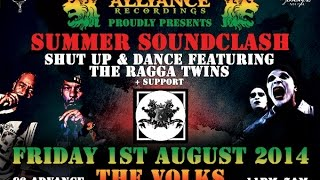 Shut Up And Dance ft Ragga Twins (Brighton Debut) at Jungle Alliance Recordings - August 1st 2014