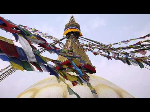 Prayer flags at Boudhanath