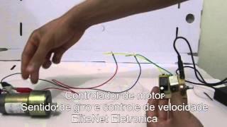 Controlador de motor com sentido de giro e controle de velocidade (12V)