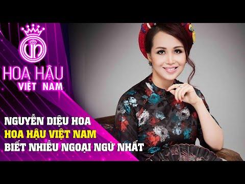 Hoa Hậu Việt Nam 1990 Nguyễn Diệu Hoa Hoa hậu biết nhiều ngoại ngữ nhất