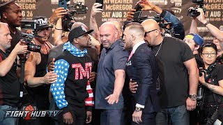 FACE TO FACE! MAYWEATHER & MCGREGOR GO AT IT IN SECOND FACE OFF!