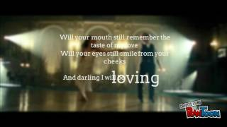 ED SHEERAN- Thinking out Loud - (lyrical video)