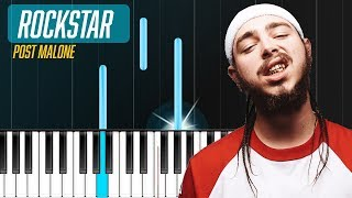 "Post Malone - ""Rockstar"" Piano Tutorial - Chords - How To Play - Cover"