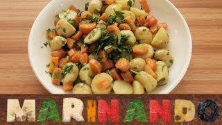 Salada de batata e cenoura