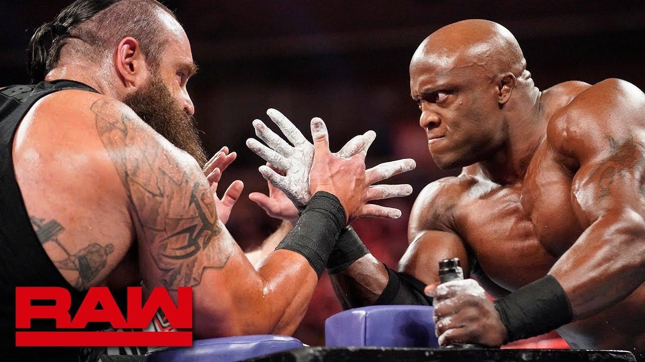 Braun Strowman vs. Bobby Lashley – Arm Wrestling Match