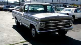 1968 Ford F 250 Camper Special F250 F350 Custom Cab Pickup Truck