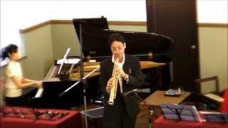 """""""Ave Maria"""" (Caccini) Piano  Sopranosax  Duo   2013/10/6"""