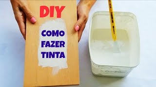 COMO FAZER TINTA CASEIRA