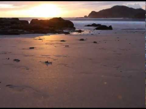 Sunset timelapse with crazy Nicaraguan crabs