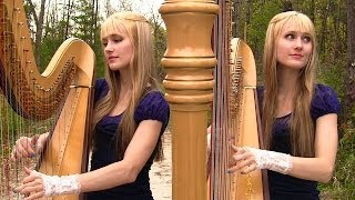 GREENSLEEVES/What Child Is This - Harp Twins - Camille and Kennerly