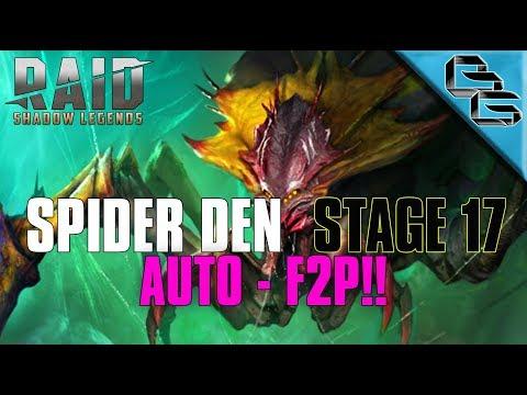 RAID: Shadow Legends | Spider Stage 17 on Auto!! | Builds + Walkthrough | F2P