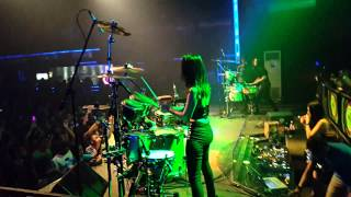 Dj nilam puspita live PA The angels percussion at Liquid Jogja 12 April 2015