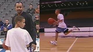 Young Stephen Curry Making Half Court Shots!