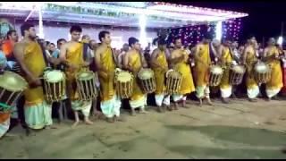 A glimpse of Chande beats during Marpalli Mahalingeshwara Rathotsava.