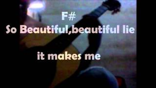beautiful lie-30 seconds cover+lyric+chord