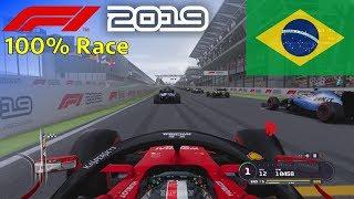 F1 2019 - Let's Make Leclerc World Champion #20: 100% Race Brazil