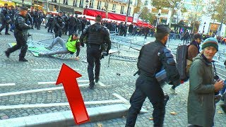 GILETS JAUNES BAGARRE CONTRE CRS & MACRON, PARIS