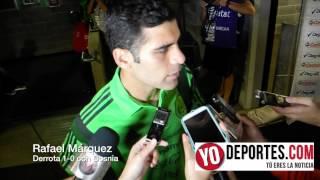 Rafa Marquez despues del partido contra Bosnia en Chicago