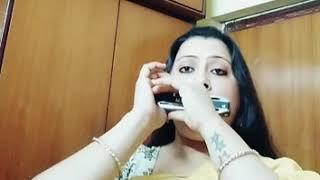 #Dil tadap tadap ke keh raha hai.. Harmonica :Gitasree ghoshal.. Ph recording use headphone