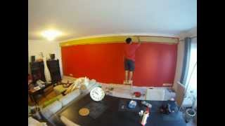 Red Wall Painting 18m² Timelapse 2h into 3min