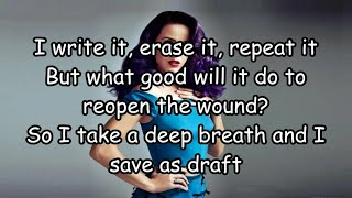 "Katy Perry - ""Save As Draft"" (Lyrics)"